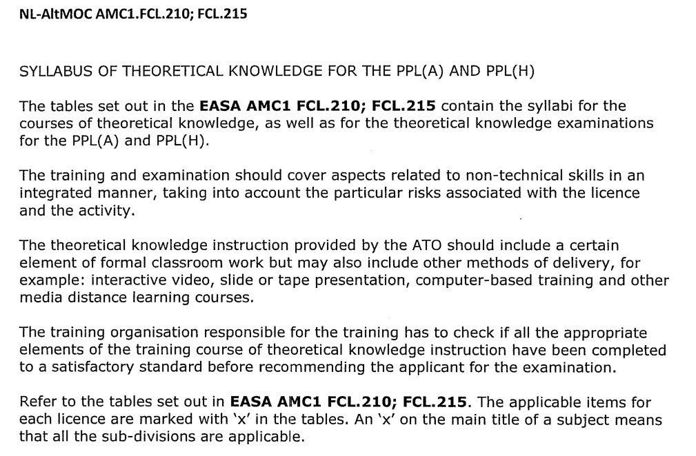 Notificatie theorie opleiding